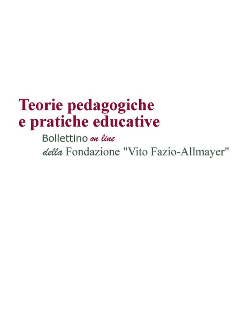 """Pubblicazione nuovo numero rivista """"Teorie pedagogiche e pratiche educative"""" - Copertina"""