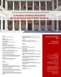 """Webinar """"La ricerca storico-educativa nelle scuole di dottorato in Italia"""" - 24 settembre"""