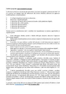 "Call for proposals rivista ""IusvEducation"" - Call"