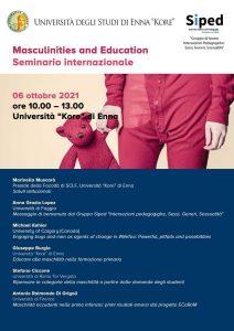 "Seminario internazionale ""Masculinities and Education"" - 6 ottobre, Enna - Locandina"