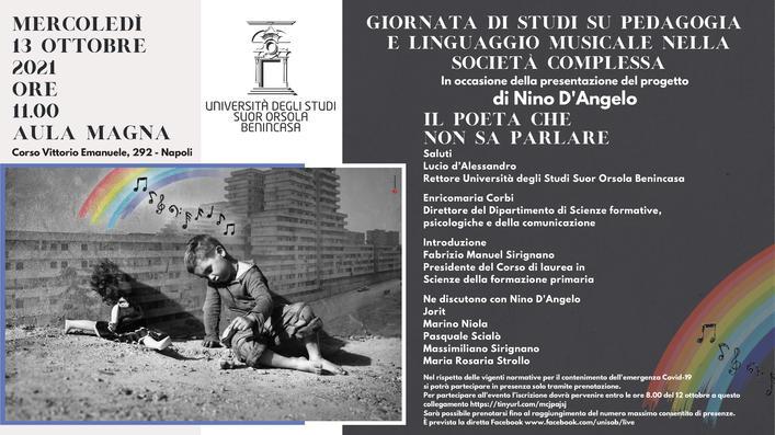 """Giornata di studi """"Pedagogia e linguaggio musicale nella società complessa"""" - 13 ottobre, Napoli"""