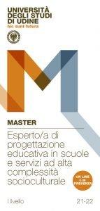 """Master di I livello """"Esperto/a di progettazione educativa in scuole e servizi ad alta complessità socioculturale"""" - Gennaio 2022 - Dicembre 2022"""
