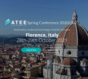 """Conferenza """"ATEE Spring Conference 2020/2021"""" sul tema """"Social justice, media and technology in Teacher education"""" - 28-29 novembre - Immagine"""